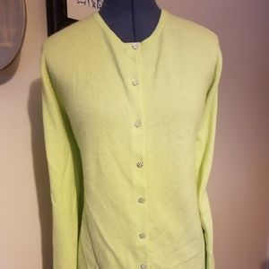 Pale green cardigan